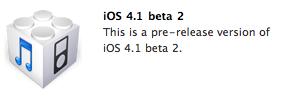 iOS 4.1 Beta 2
